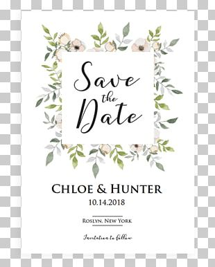 Wedding Invitation Save The Date Flower Floral Design PNG