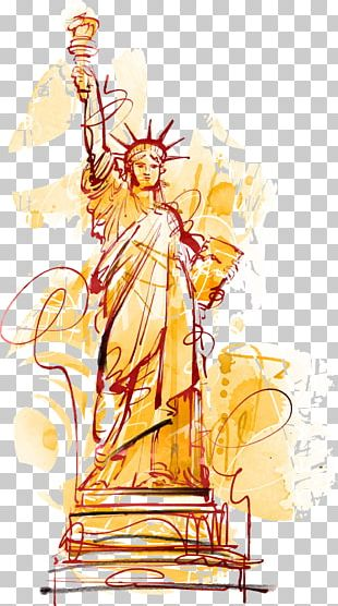 Statue Of Liberty Cartoon Illustration PNG