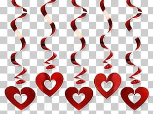 Valentine's Day Holiday Garland Gift Heart PNG