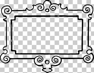 Borders And Frames Frame Black And White PNG