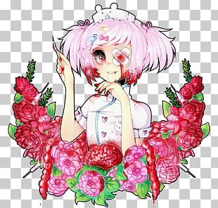 Floral Design Anime Flower Art Manga PNG