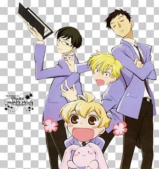 Haruhi Fujioka Kyoya Ootori Ouran High School Host Club Mitsukuni Haninozuka Anime PNG