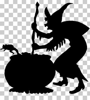 Witch And Cooking Pot PNG