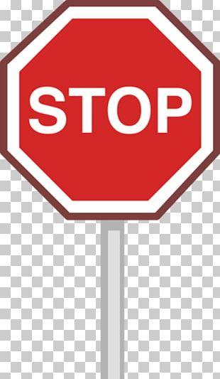 Stop Sign Illustration PNG