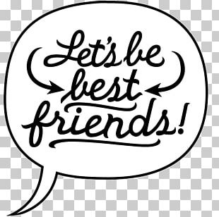 Best Friends Forever Friendship Drawing PNG