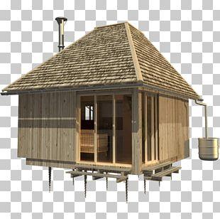 Log Cabin House Plan Cottage Facade PNG