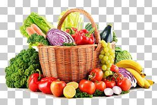 Organic Food Juice Vegetable Fruit Basket PNG