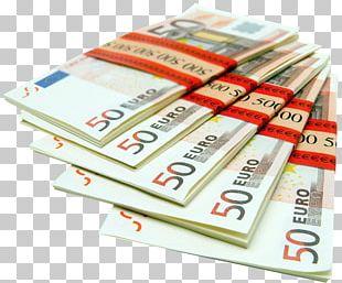 Euro Banknotes Money 1 Euro Coin PNG