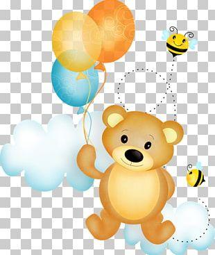 Baby Polar Bears Teddy Bear Balloon PNG