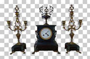 Pendulum Clock Bronze Mantel Clock Table PNG