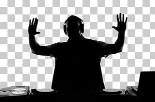 Silhouette Microphone Disc Jockey PNG