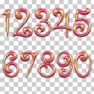 Pink M Body Jewellery Line Font PNG
