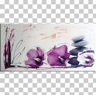 Floral Design Art Canvas Print Watercolor Painting PNG