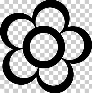 Black And White Flower Drawing Cartoon PNG