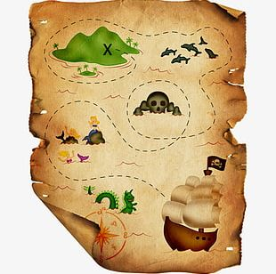 Pirate Map PNG