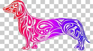 Dog Breed Dachshund Art Drawing PNG
