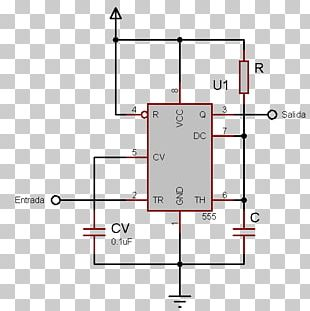 555 Timer IC Astable Multivibrator Integrated Circuits & Chips
