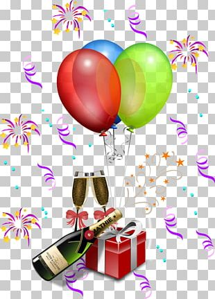 Balloon Birthday Party Christmas PNG