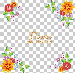 Flowers Background Border PNG