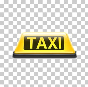 Taxi Yellow Cab Sign Roof PNG