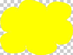 Yellow Drawing Cloud PNG