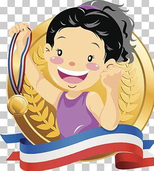 Gold Medal Championship Illustration PNG