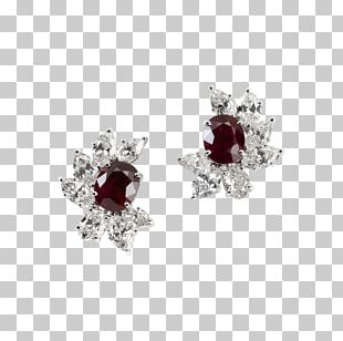 Ruby Earring Body Jewellery Necklace PNG