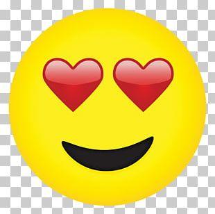 Emoji Eye Heart Face Smiley PNG