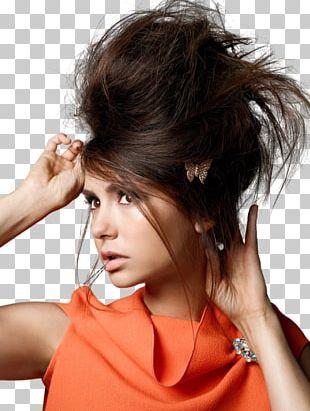 The Vampire Diaries Nina Dobrev Hairstyle Model Black Hair PNG