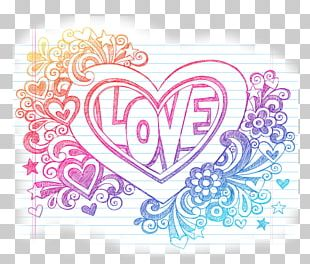 Drawing Love Heart Sketch PNG