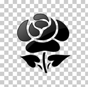 Black And White Black Rose PNG