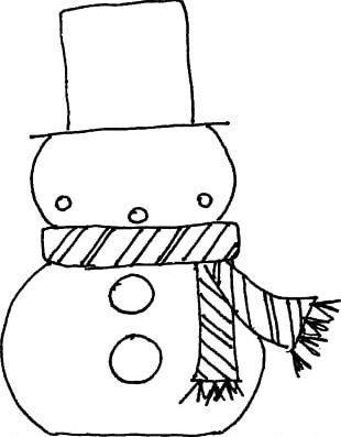 Coloring Book Christmas Santa Claus Gingerbread House Snowman PNG