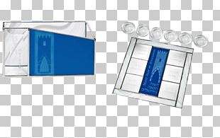 Glass Blue Passover Seder Plate PNG