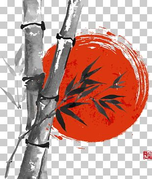 Japanese Painting Ink Wash Painting Drawing PNG