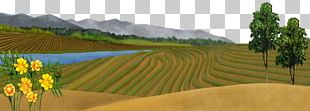 Spring Scenery Freehand Outskirts PNG