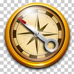 Wall Clock Compass PNG