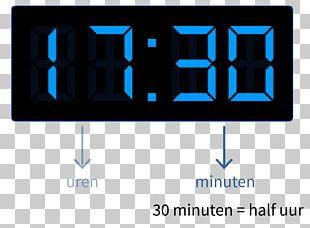 Digital Clock Display Device Alarm Clocks Time PNG
