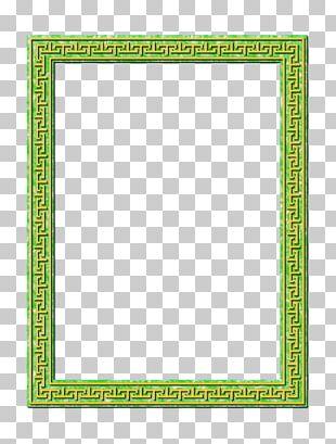 Frames Green Line Pattern PNG