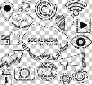 Social Media Marketing Infographic Euclidean Icon PNG