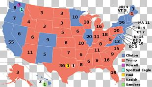 United States Of America US Presidential Election 2016 Electoral College Voting PNG