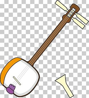 Plucked String Instrument Shamisen Musical Instruments String Instruments PNG