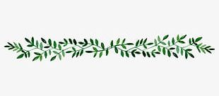 Hand-painted Leaf Border PNG