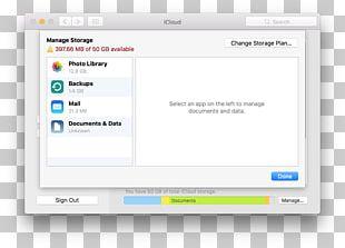 Computer Program ICloud Backup Computer Data Storage Apple PNG