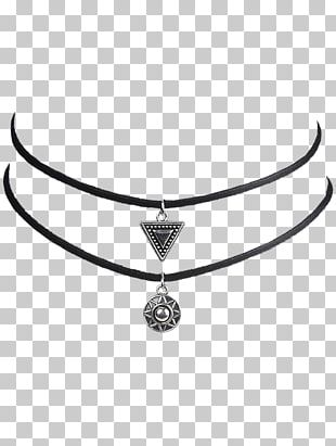Necklace Body Jewellery Silver White PNG