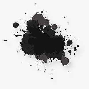 Abstract Black Splash PNG