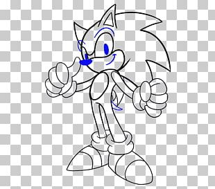 Black And White Sonic And The Black Knight Sonic Chronicles: The Dark Brotherhood Shadow The Hedgehog Drawing PNG