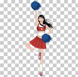 Cheerleader Cartoon Woman Illustration PNG