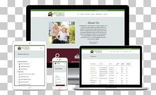 Responsive Web Design Social Media Advertising Web Page PNG