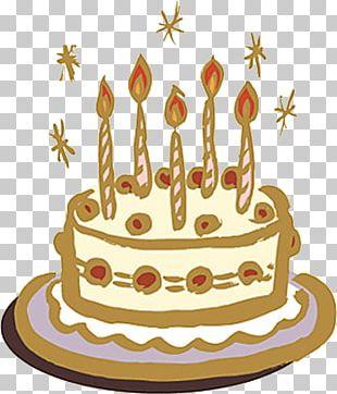 Hand Drawn Birthday Cake PNG