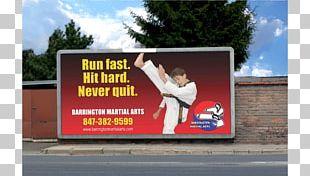 Billboard Karate Martial Arts Advertising Taekwondo PNG
